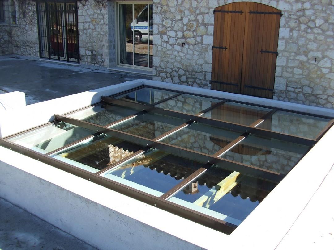 Photo toiture vitrerie vitré ouvrante motorisé