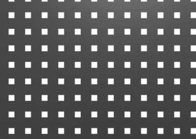 Tôle perforée -motifs carrés